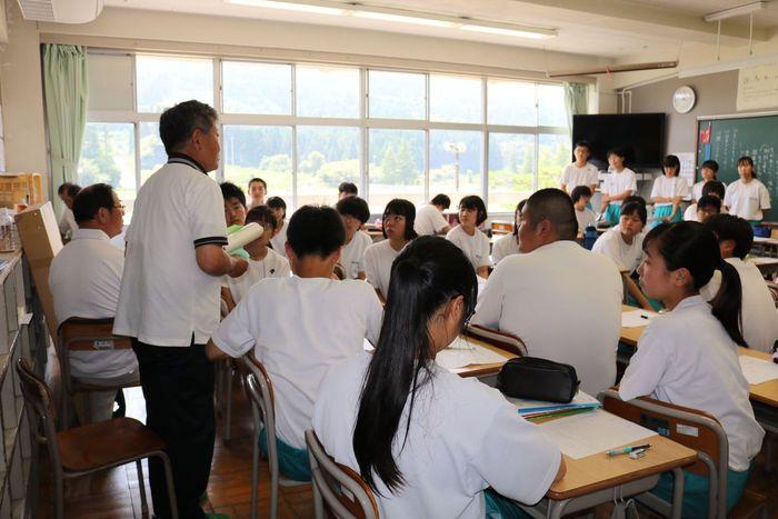 室根中学生との座談会